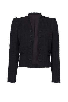 Black Boucle Tweed Jacket by Rebecca Taylor