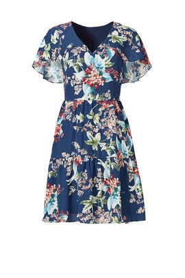 Blue Flower Print Dress by Slate & Willow