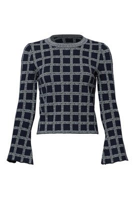 Plaid Crinkle Cropped Top by 10 CROSBY DEREK LAM