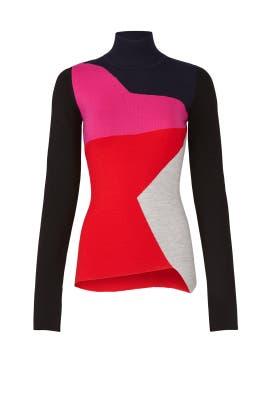 Colorblock Turtleneck Knit by Diane von Furstenberg