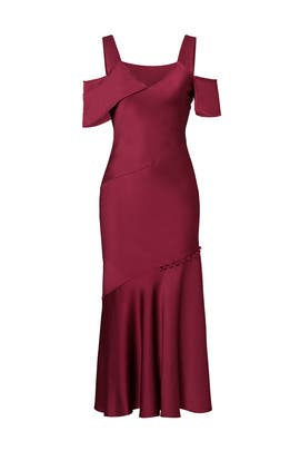Plum Smooth Drape Dress by Prabal Gurung