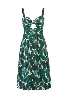 Banana Leaf Jordan Dress by Milly