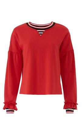 Red Jewel Sweatshirt by Rebecca Minkoff