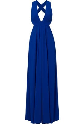 Cobalt Cross Gown by Jill Jill Stuart