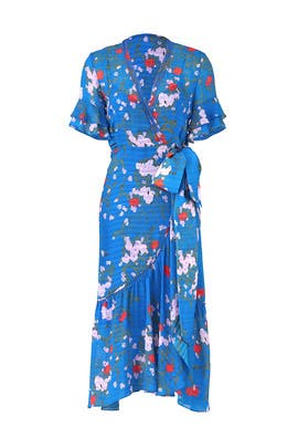 Floral Blaire Wrap Dress by Tanya Taylor