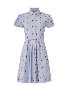 Cherry Orchard Ruffle Shirtdress by Draper James