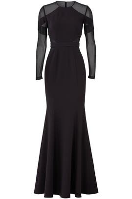 Black Carnie Gown by Jay Godfrey