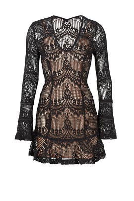 Black Scallop Lace Dress by Nicholas