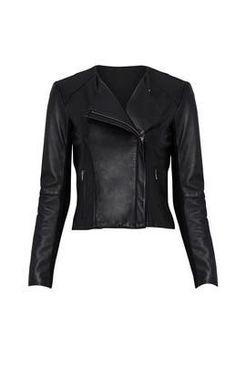 Black Dali Leather Jacket by VEDA