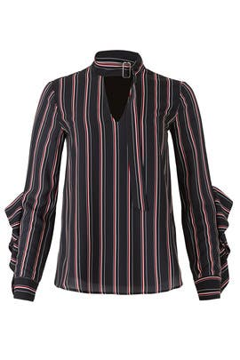 Kipling Woven Striped Blouse by Adelyn Rae