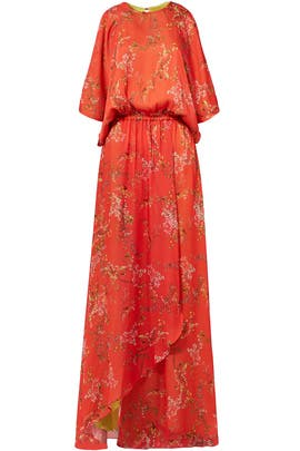 Angia Red Floral Maxi Dress by Alexis