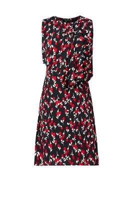 Red Bud Print Dress by Marni