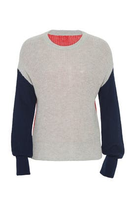Colorblock Calico Sweater by Splendid