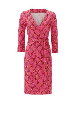Pink Print Julian Two Wrap Dress by Diane von Furstenberg