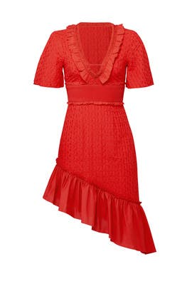 Red Memento Dress by FINDERS KEEPERS