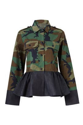 Peplum Camo Jacket by Harvey Faircloth