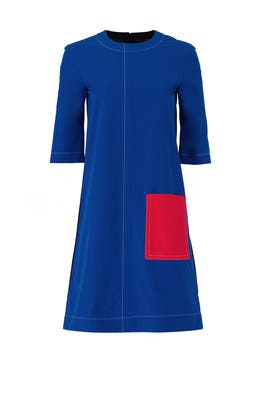 Short Sleeve Colorblock Dress by Marni