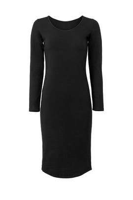 Black Scoop Neck Dress by MONROW