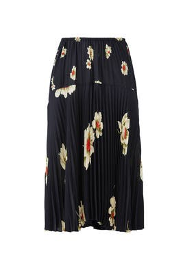 Gardenia Floral Pleated Skirt by VINCE.