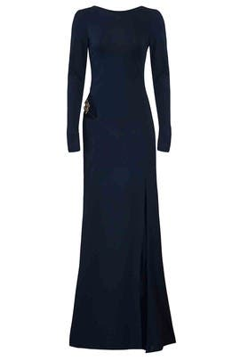 Navy Cut Out Bianca Gown by HANEY