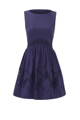 Navy Across the Lines Dress by Rebecca Minkoff