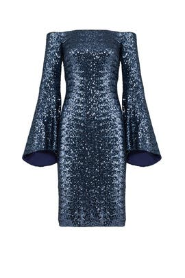 Midnight Sequin Sheath by Theia
