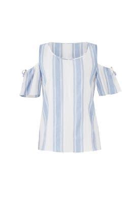 Blue Stripe Mia Tie Top by Cooper & Ella