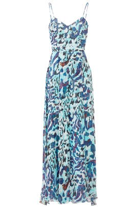 Camo Sea Maxi Dress by Hunter Bell