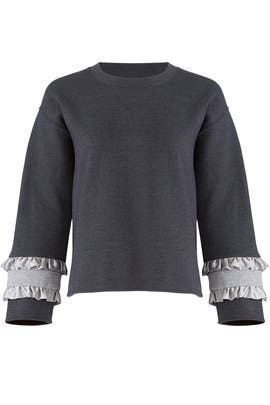 Grey Contrast Pullover by Harvey Faircloth