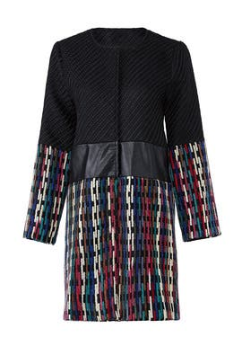 Twill Colorblock Coat by Lavand.