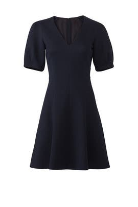 Navy Stretch Textured Dress by Rebecca Taylor