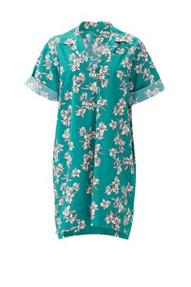 Teal Floral Print Elisa Dress by Corey
