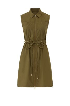 Army Green Zip Up Shirtdress by Derek Lam 10 Crosby