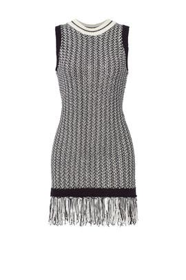 Knit Fringed Dress by English Factory