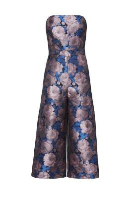 Mauve Floral Jumpsuit by Greylin