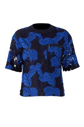 Oversize Lace T-Shirt by Jason Wu Grey