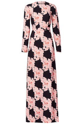 Retro Floral Print Gown by MSGM