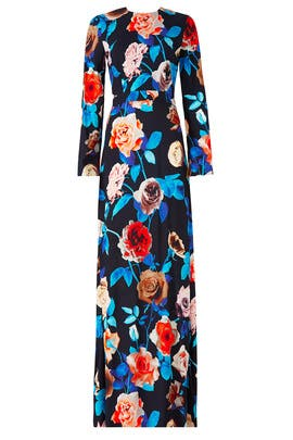 Exaggerated Floral Gown by MSGM