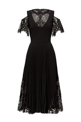 Black Scallop Dress by Nicole Miller