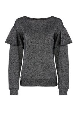 Terry Ruffle Sweatshirt by Sanctuary