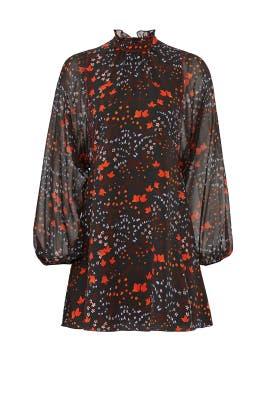 Floral Mock Neck Dress by Giamba