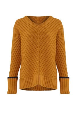 Yellow Plunge Sweater by Jason Wu Grey
