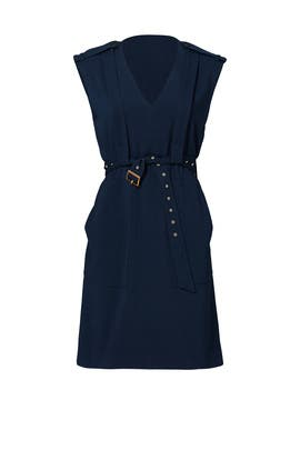 Navy Savanna Dress by Tibi
