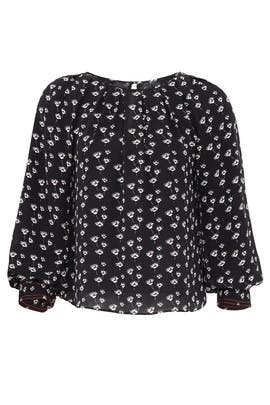 Poppy Print Gillian Top by Tanya Taylor