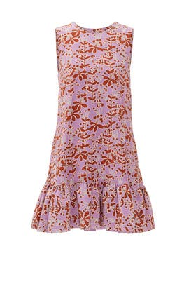 Floral Ruffle Duster Shift by Cynthia Rowley