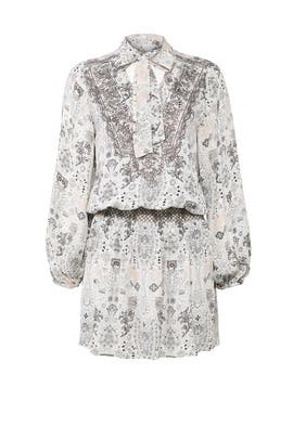 Ivory Printed Silvia Dress by Parker