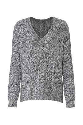 Grey Cable Sweater by VINCE.