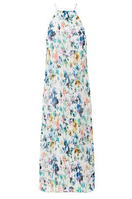 Floral Chester Pleated Maxi by LIKELY