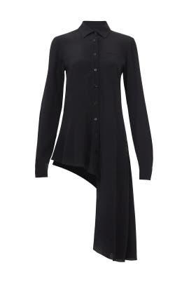 Black Asymmetric Shirt by Nanette Lepore