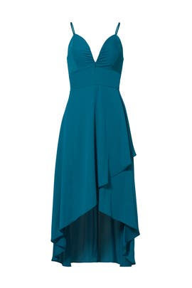 Teal High Low Dress by Amanda Uprichard